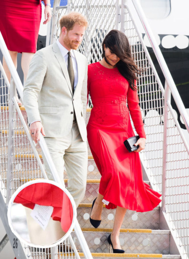 98c6562204a Meghan Markle Stepped Out With the Tag Still on Her Dress - HelloGiggles