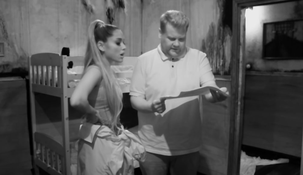 Ariana Grande and James Corden freaking out in a terrifying escape room is all you need today