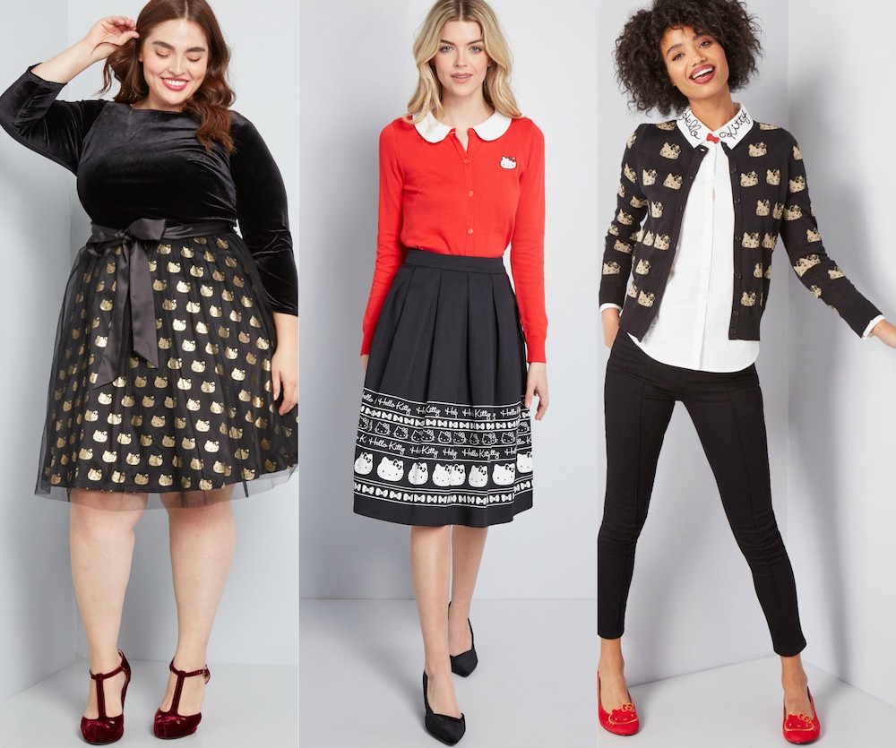 The Modcloth for Hello Kitty collection has everything from cocktail dresses to workout wear