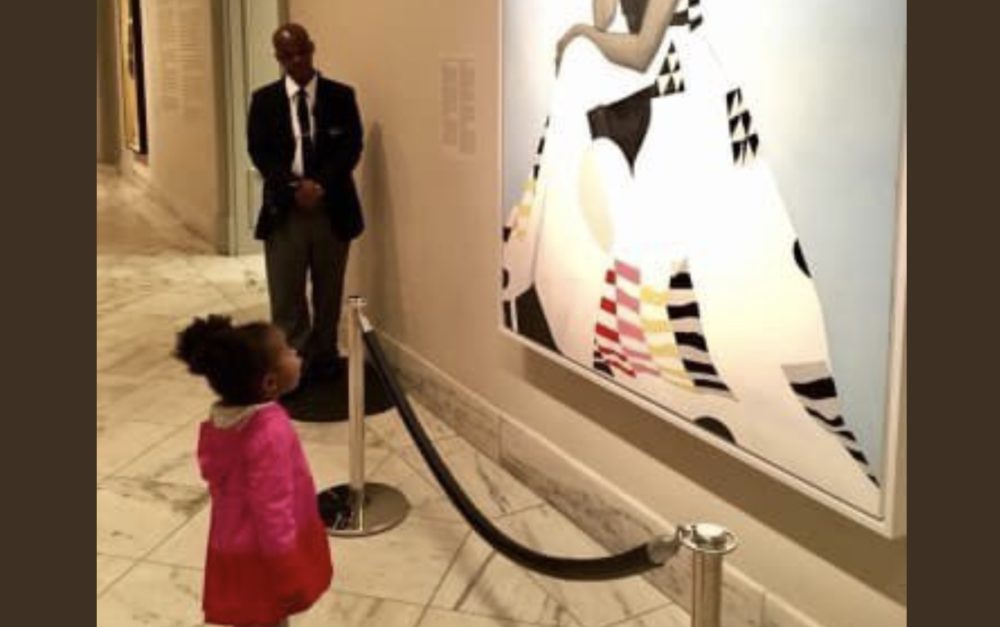 The little girl who was awestruck by Michelle Obama's portrait went as her hero for Halloween