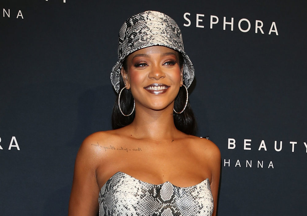 Rihanna's black leather Halloween costume is officially Catwoman meets <em>Nightmare Before Christmas</em>