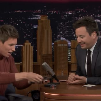 Eddie Redmayne literally used Jimmy Fallon's spit for a magic trick