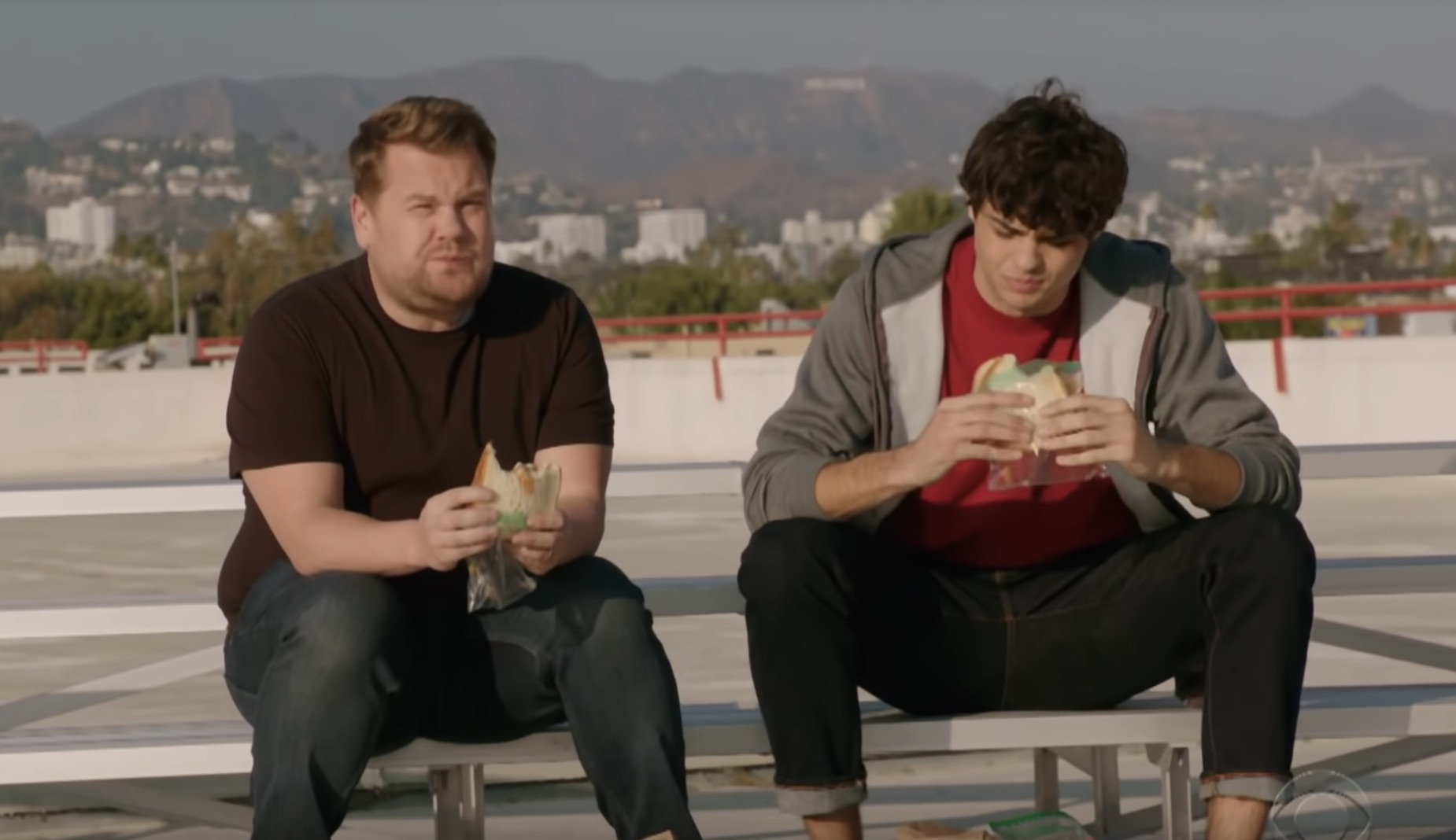Noah Centineo recreated <em>TATBILB</em> with James Corden instead of Lara Jean, and it's glorious