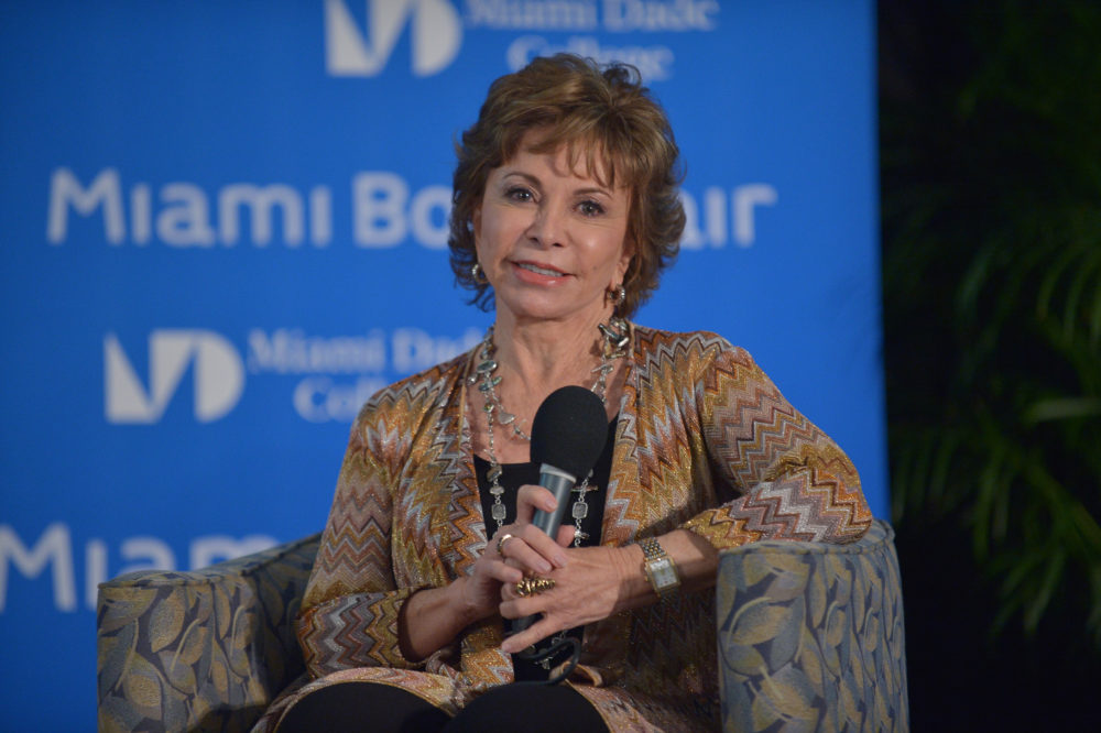 Celebration time: Isabel Allende just became the first Spanish-language writer to receive the National Book Award medal