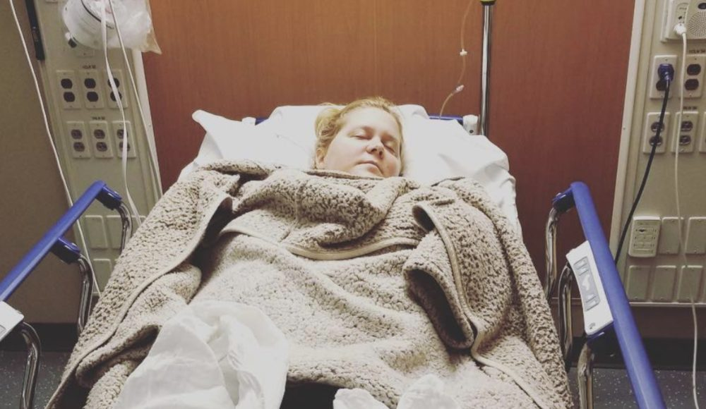 Amy Schumer is in the hospital with an extremely unpleasant pregnancy condition, and we hope she's okay