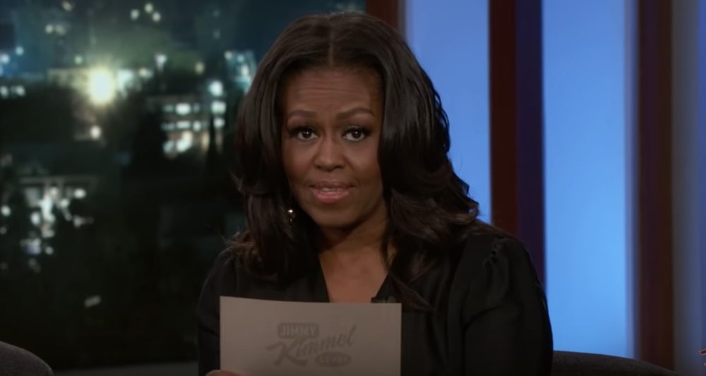 "Michelle Obama said all the things she ""couldn't say as first lady"" on <em>Kimmel</em> last night, and LOL forever"