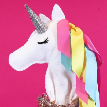 This unicorn Christmas tree topper is the DIY magic your holiday decor needs this year