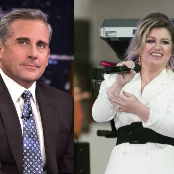 Steve Carell worried that Kelly Clarkson was mad at him for his iconic line about her in <em>The 40-Year-Old Virgin</em>