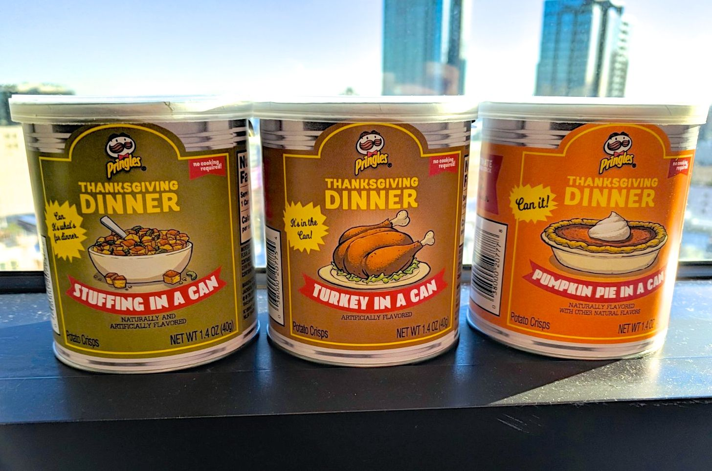We tried the Thanksgiving Pringles, and they got extremely mixed reviews