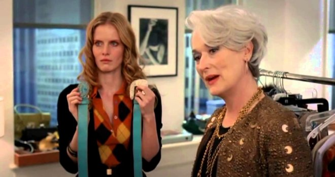 "The infamous <em>Devil Wears Prada</em> ""cerulean"" monologue was almost about a classic '90s print instead"