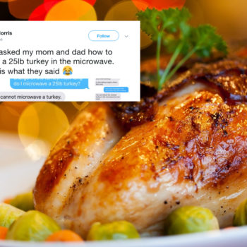 People are pranking their moms by asking them how to microwave a turkey, and the texts are going viral