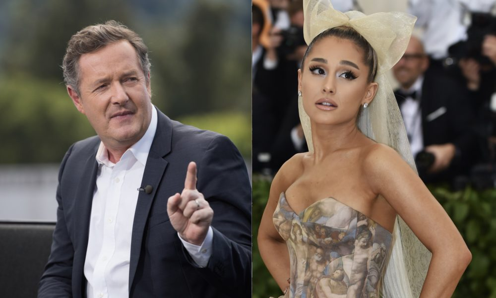 Piers Morgan got in a Twitter fight with Ariana Grande's mom, and Ariana clapped back SO hard
