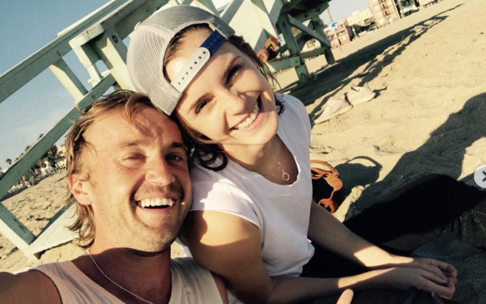 This picture of Tom Felton teaching Emma Watson the guitar has literally Avada Kedavra'd us