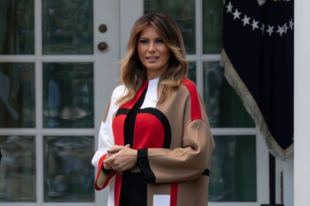 Melania Trump's <em>Handmaid's Tale</em>-esque Christmas trees are creeping out everyone on Twitter