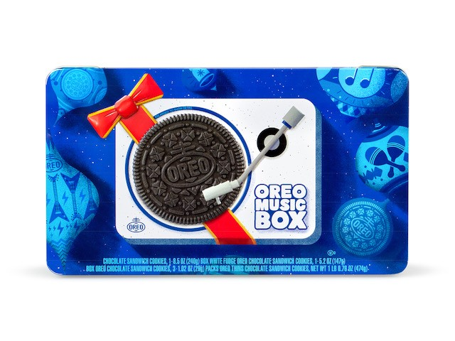 Oreo just released the perfect weird holiday gift for your BFF—a cookie record player that actually plays music