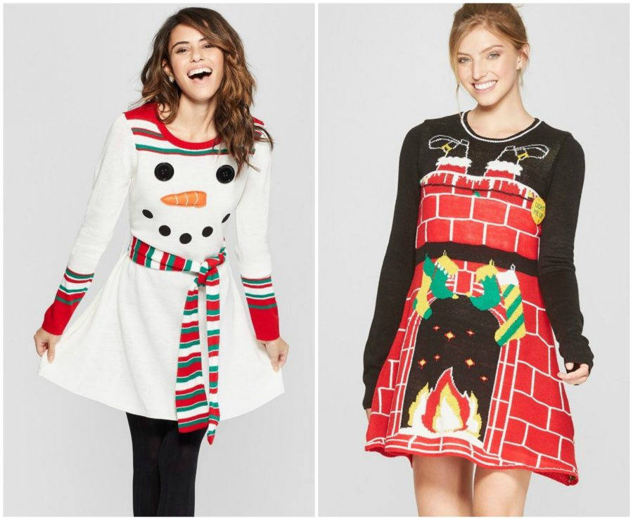 Target has unleashed ugly Christmas sweater dresses, just in time for your holiday work party