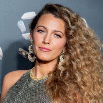 Blake Lively paid homage to early-00s Christina Aguilera with a throwback Versace look