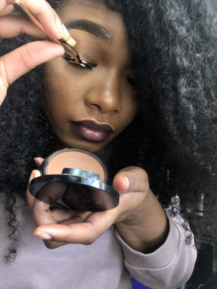 509cec5f1a6 Looking down into a mirror helps give you a better view of your natural lash  line and the placement of your false lashes. You'll want to place the false  ...