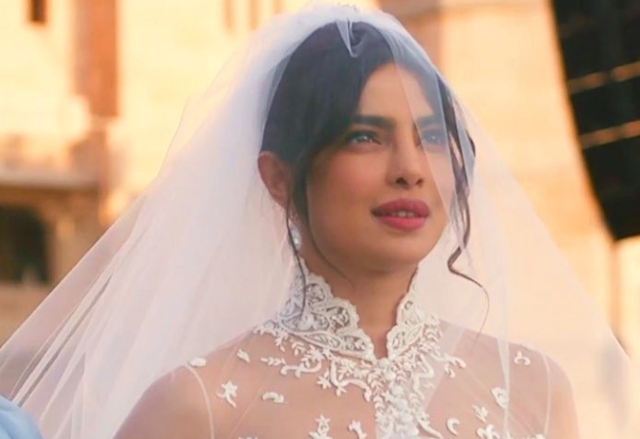 Priyanka Chopra's wedding dress had secret sentimental messages sewn into it