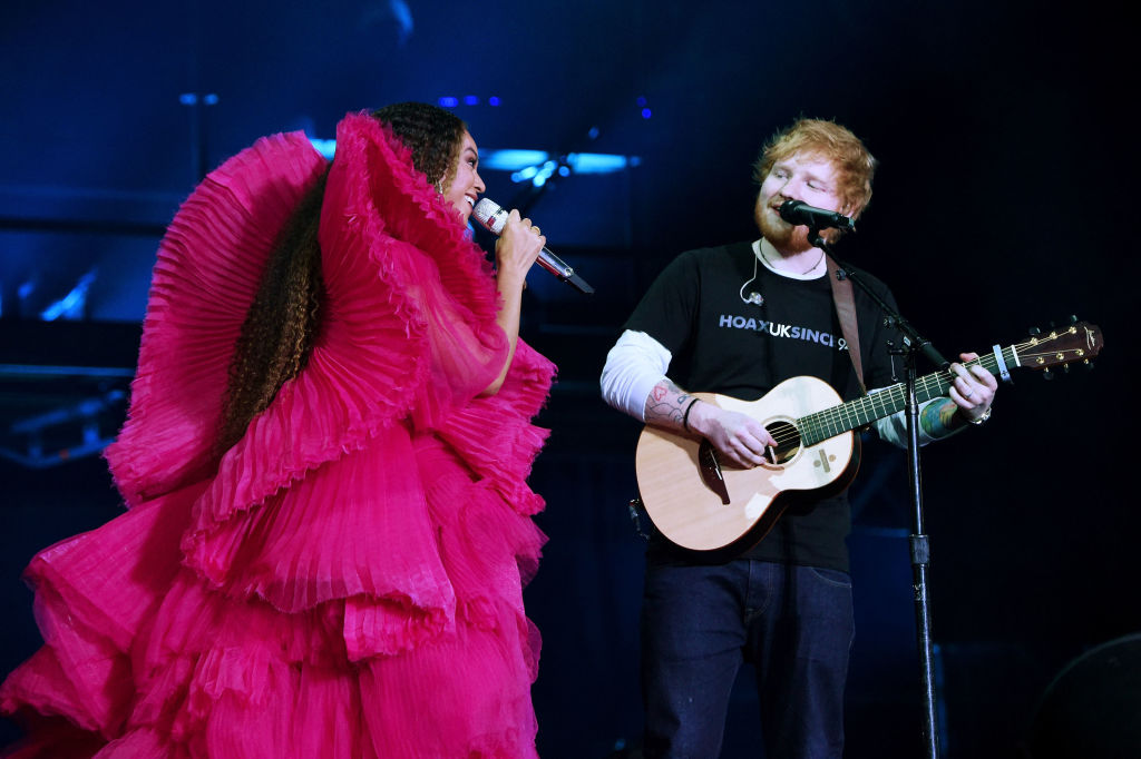 Beyoncé and Ed Sheeran's concert outfits have sparked an important discussion about white male privilege