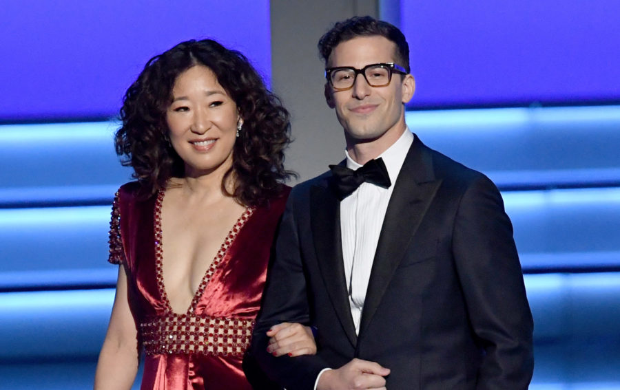 This is not a drill! Sandra Oh and Andy Samberg will co-host the 2019 Golden Globes