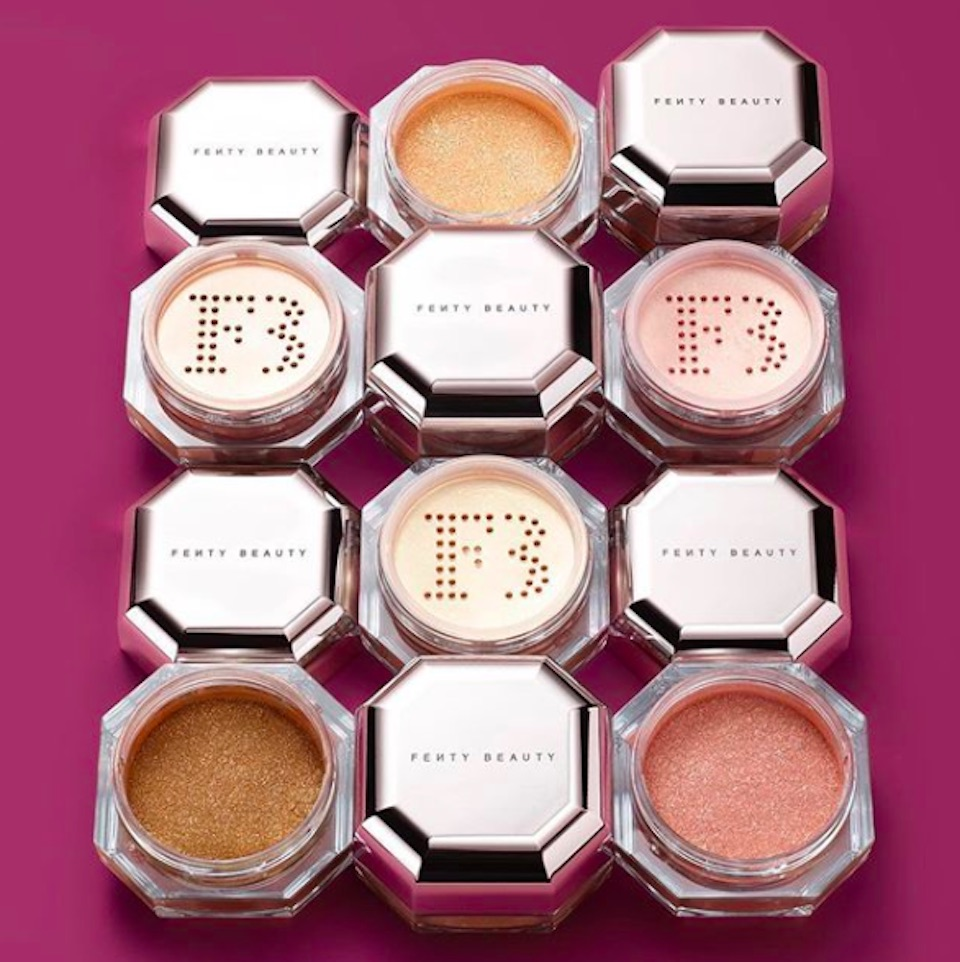 Fenty Beauty's Fairy Bomb highlighters are here, and they will make you shine bright like a Christmas tree