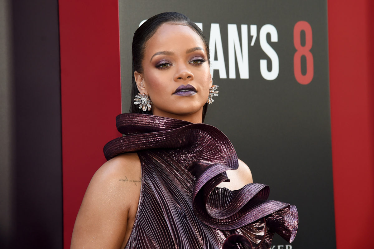 Rihanna used a lookalike model just to test out brow looks, because of course