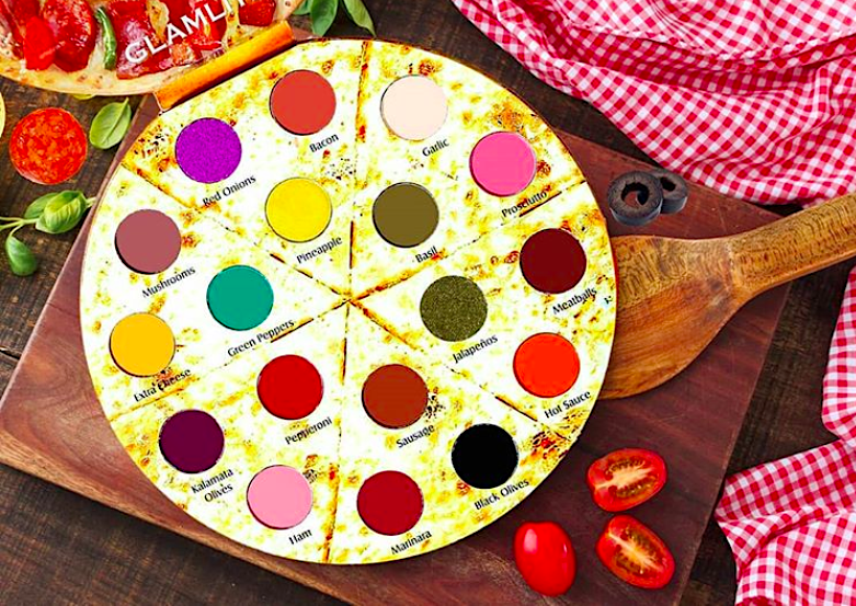 A pizza-themed eyeshadow palette exists, and what a time to be alive