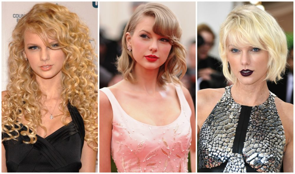 Taylor Swift's beauty evolution, from curly hair princess to platinum blonde bob queen