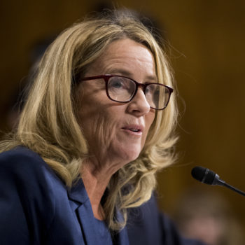 Christine Blasey Ford made her first public appearance since her hearing to honor another survivor