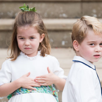Princess Charlotte wore a Prince George hand-me-down in the family holiday card, because royals are just like us