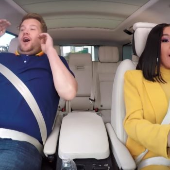 Watching Cardi B demolish a driving course with James Corden is probably the best thing you'll see all week