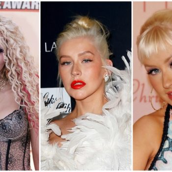Christina Aguilera's beauty evolution, from rhinestone eyeshadow to her famous no-makeup magazine cover