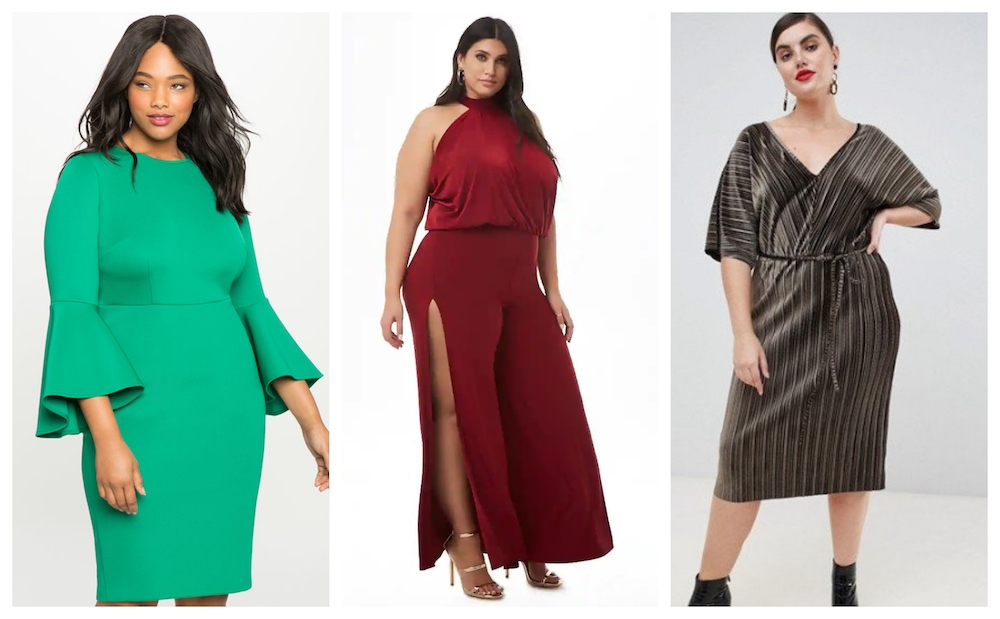 These plus-size dresses will spice up your holiday season more than hot buttered rum
