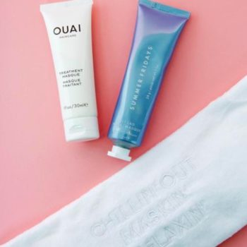 The Ouai x Summer Fridays mask set is exactly what you'll need after the holidays