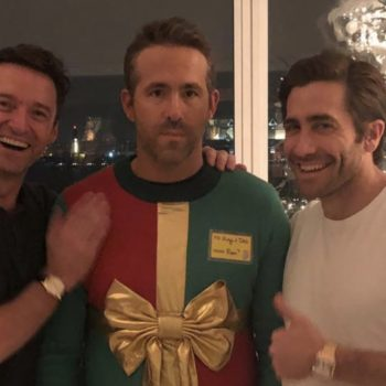 Jake Gyllenhaal and Hugh Jackman punked Ryan Reynolds so hard with this Christmas sweater prank