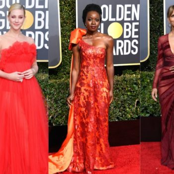 Everyone was dressed like fire and flames at the 2019 Golden Globes