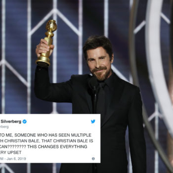 So many Golden Globes viewers had no idea Christian Bale is British, and Twitter needs a moment