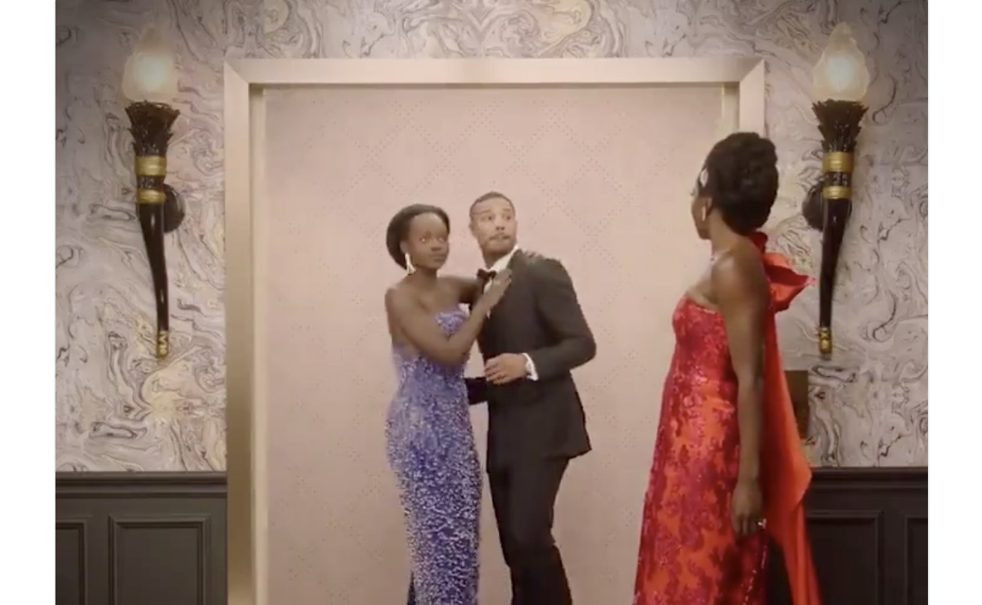 This video of Lupita Nyong'o making out with Michael B. Jordan and THEN Danai Gurira is all we ever wanted