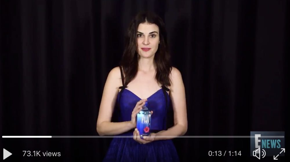 "Fiji Water Girl thanked her fans in a new ""acceptance speech"" video, and LOL forever"