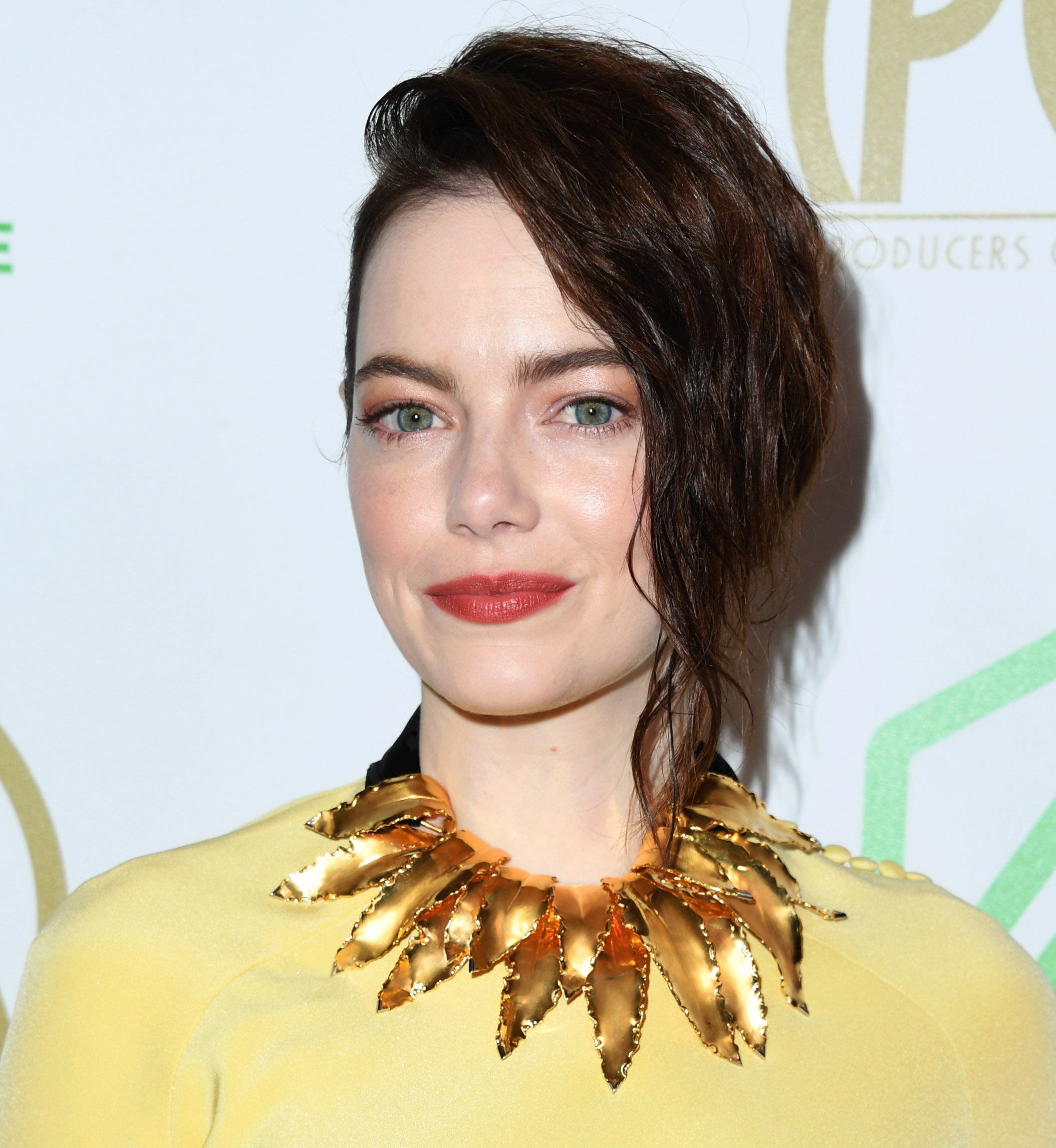 Emma Stone Debuted Dark Brown Hair, And She Looks Like ...
