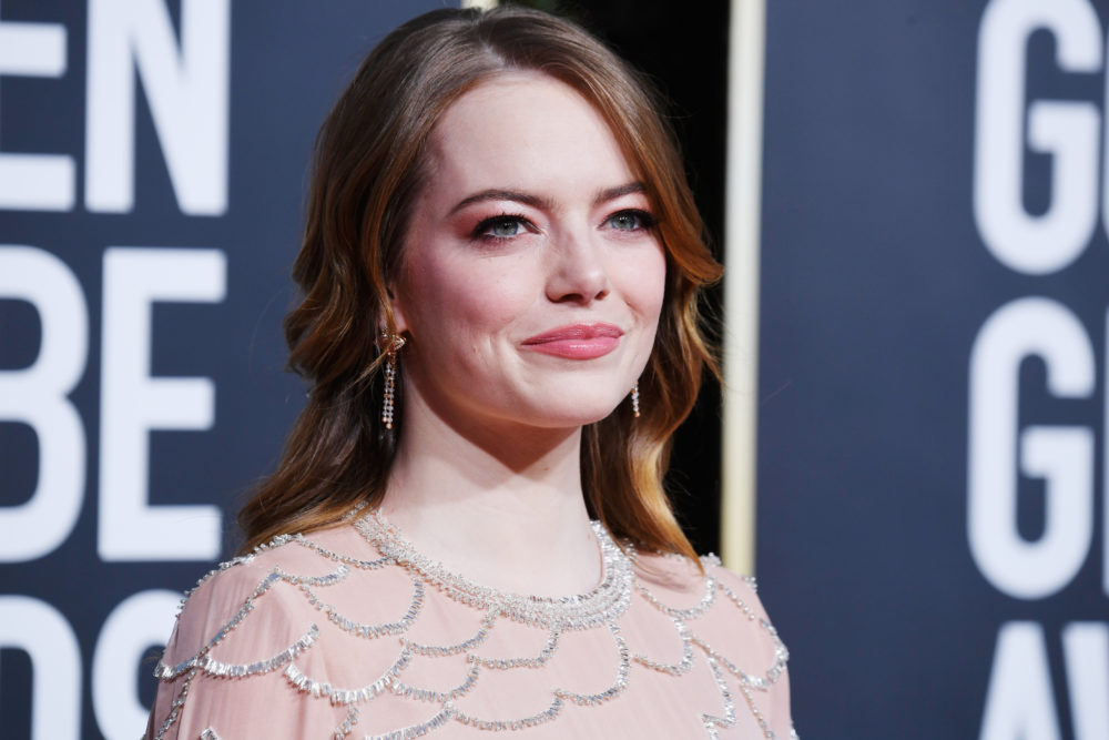 So THIS is why Emma Stone just dyed her hair a dramatic dark brown