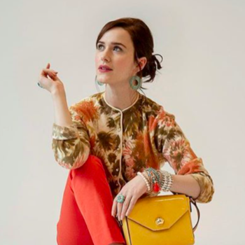 Rachel Brosnahan is now the face of her late aunt Kate Spade's handbag line