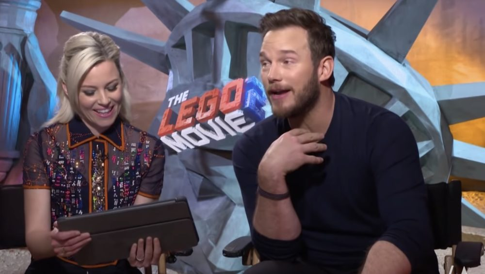 Chris Pratt's reaction to finding out Katherine Schwarzenegger used to have a crush on Chris EVANS is priceless