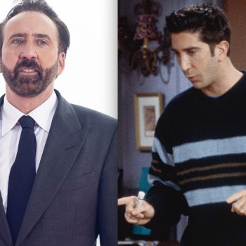 The internet is currently obsessed with this meme of Nicolas Cage's face on Ross Geller's body
