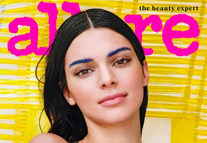 How to recreate Kendall Jenner's bright blue brows on the cover of <em>Allure</em>