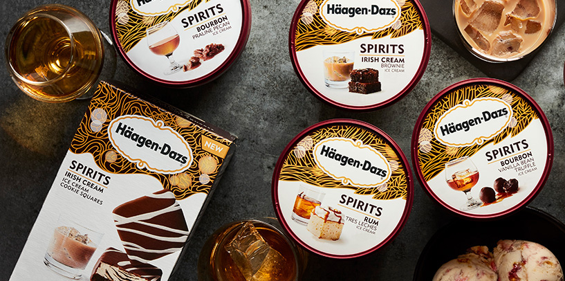 Häagen-Dazs launched six new booze-infused ice cream flavors