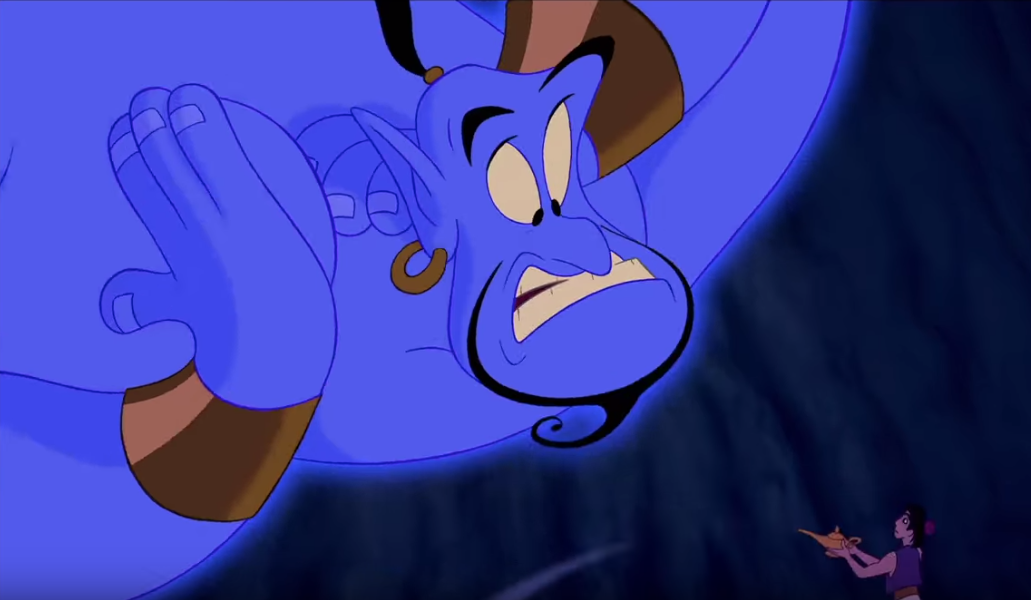 The new live-action <em>Aladdin</em> trailer finally shows Will Smith as a blue genie