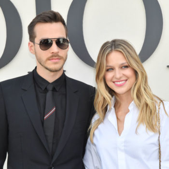 Melissa Benoist is engaged to her <em>Supergirl</em> co-star Chris Wood, and you have to see her giant ring