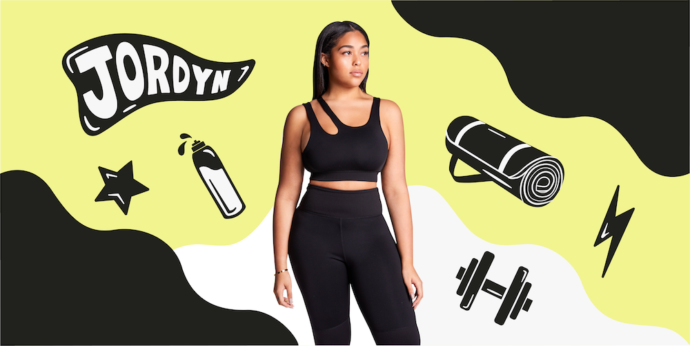 Jordyn Woods talks to us about #bigboobproblems and why inclusivity is key with her athleisure line